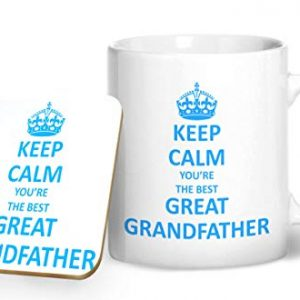 Keep Calm You're The Best Great Grand Father – Printed Mug & Coaster Gift Set