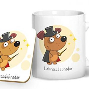 Labracadabrador – Printed Mug & Coaster Gift Set