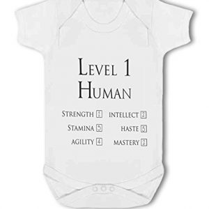 Level 1 Human Character funny gaming – Baby Vest