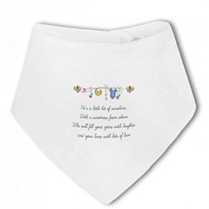 Little Bit of Sunshine Baby Boy – Baby Bandana Bib