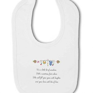 Little Bit of Sunshine Baby Boy – Baby Bib