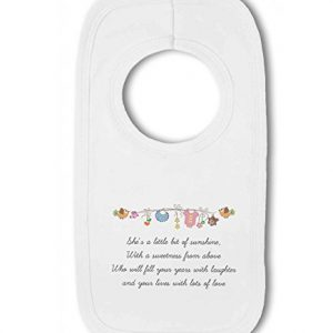 Little Bit of Sunshine Baby Girl – Baby Pullover Bib