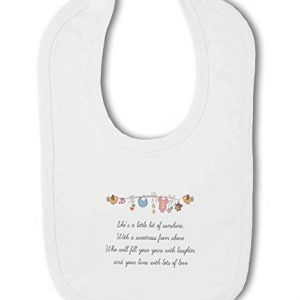 Little Bit of Sunshine Baby Girl – Baby Bib