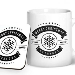 Merry Christmas Everyone Design 1 – Printed Mug & Coaster Gift Set