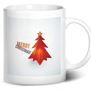 Merry Christmas Tree Design 3 – Printed Mug