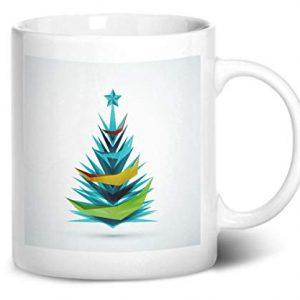 Merry Christmas Tree Design 4 – Printed Mug