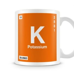 Periodic Table of Elements 19 K – Potassium Symbol Mug
