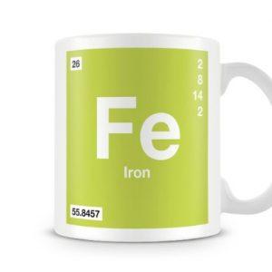 Periodic Table of Elements 26 Fe – Iron Symbol Mug