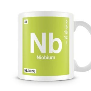 Periodic Table of Elements 41 Nb – Niobium Symbol Mug