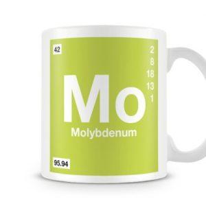 Periodic Table of Elements 42 Mo – Molybdenum Symbol Mug