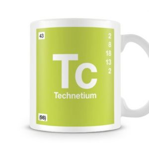 Periodic Table of Elements 43 Tc – Technetium Symbol Mug