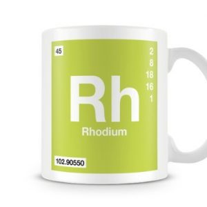 Periodic Table of Elements 45 Rh – Rhodium Symbol Mug