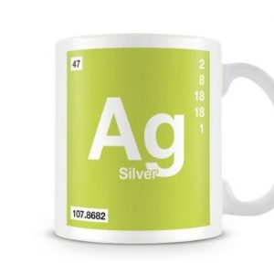 Periodic Table of Elements 47 Ag – Silver Symbol Mug