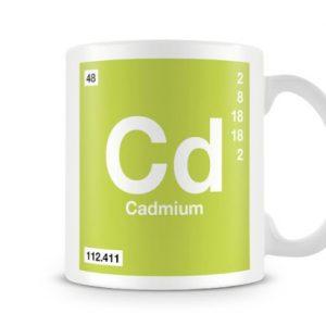 Periodic Table of Elements 48 Cd – Cadmium Symbol Mug