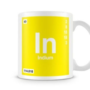 Periodic Table of Elements 49 In – Indium Symbol Mug