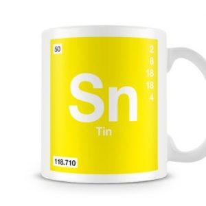 Periodic Table of Elements 50 Sn – Tin Symbol Mug