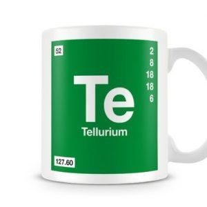 Periodic Table of Elements 52 Te – Tellurium Symbol Mug
