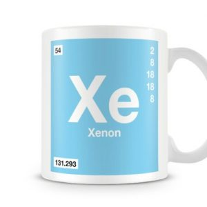 Periodic Table of Elements 54 Xe – Xenon Symbol Mug