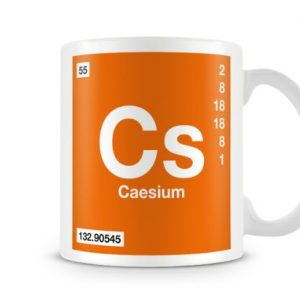 Periodic Table of Elements 55 Cs – Caesium Symbol Mug