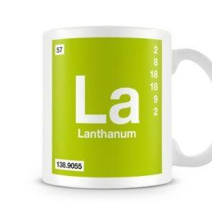 Periodic Table of Elements 57 La – Lanthanum Symbol Mug