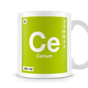 Periodic Table of Elements 58 Ce – Cerium Symbol Mug