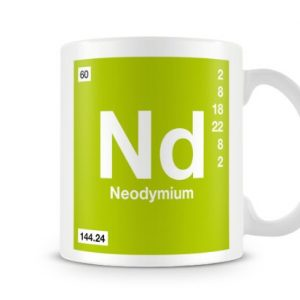Periodic Table of Elements 60 Nd – Neodymium Symbol Mug