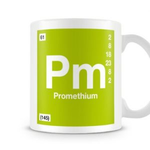 Periodic Table of Elements 61 Pm – Promethium Symbol Mug