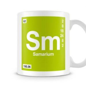 Periodic Table of Elements 62 Sm – Samarium Symbol Mug