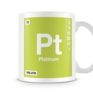 Periodic Table of Elements 78 – Platinum Symbol Mug