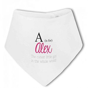 Personalised Alphabet Letter is for Name Pink Girl – Baby Bandana Bib