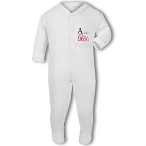 Personalised Alphabet Letter is for Name Pink Girl – Baby Grow