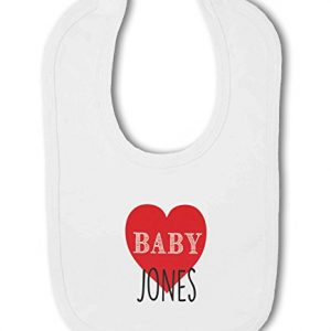 Personalised Baby Name with Heart Design – Baby Bib