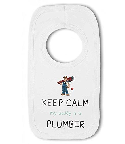 Keep Calm my Daddy // Mummy is a .. Baby Bandana Bib funny Plumber