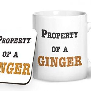 Property of a Ginger – Printed Mug & Coaster Gift Set
