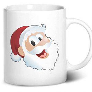Santa Claus Face Christmas Stocking Filler – Printed Mug