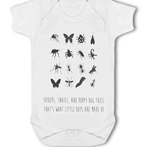 Spiders, Puppy Dog Tails, Little Boys are Made of cute – Baby Vest