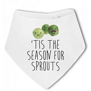 'Tis the Season for Sprouts …funny christmas – Baby Bandana Bib