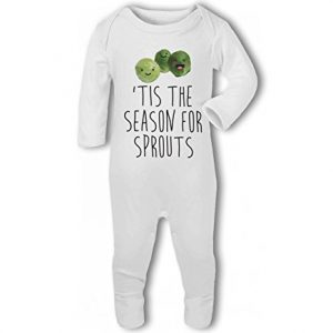 'Tis the Season for Sprouts .funny christmas – Baby Romper Suit
