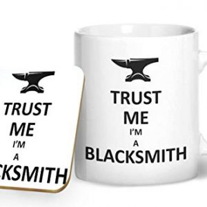 Trust Me I'm A Blacksmith – Printed Mug & Coaster Gift Set