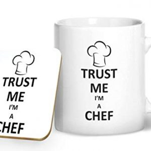 Trust Me I'm A Chef Mug And Matching Coaster Set – Printed Mug & Coaster Gift Set
