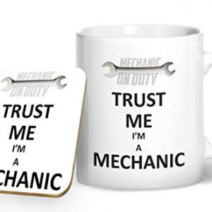 Trust Me I'm A Mechanic – Printed Mug & Coaster Gift Set