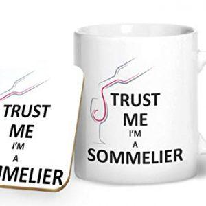 Trust Me I'm A Sommelier – Printed Mug & Coaster Gift Set