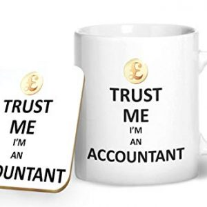 Trust Me I'm An Accountant Mug And Matching Coaster Set – Printed Mug & Coaster Gift Set