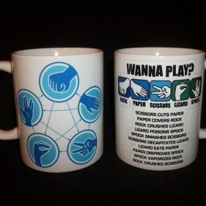 Wanna Play? Rock, Paper Scissors, Lizard, Spock Ceramic Mug