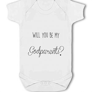 Will You be my Godparents with optional names – Baby Vest