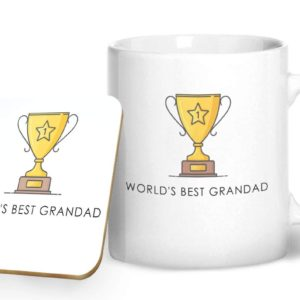 World's Best Grandad – Printed Mug & Coaster Gift Set