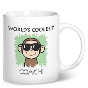 Worlds Coolest Coach Green – Printed Mug