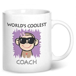 Worlds Coolest Coach Pink – Printed Mug