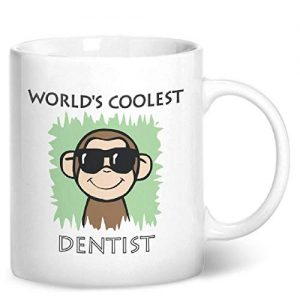 Worlds Coolest Dentist Green – Printed Mug
