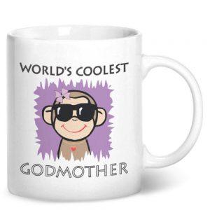 Worlds Coolest Godmother – Printed Mug